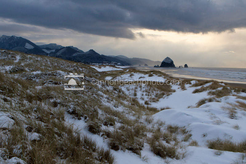 Snow on the Beach 2, Cannon Beach, Oregon