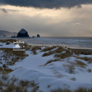Snow on the Beach, Cannon Beach, Oregon