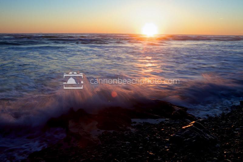 Sunset Wave Crash