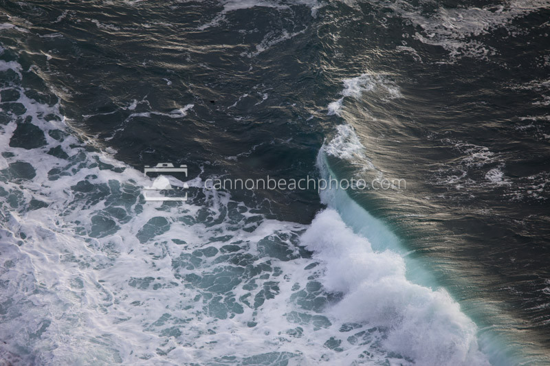 Wave Crash from Above, Pacific Ocean