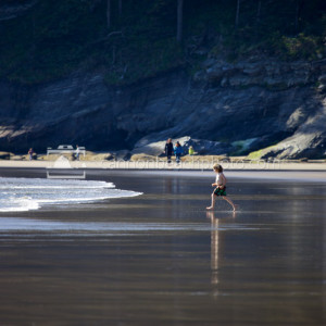Beach Play Image, Oregon Coast