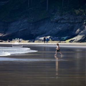 Beach Play Image, Oregon Coast