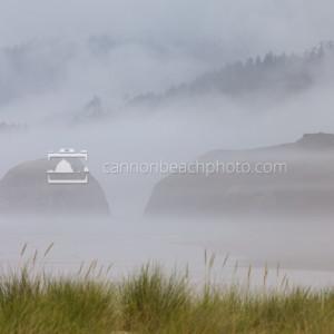 Fog in the Seastacks, Cannon Beach, Oregon Coast