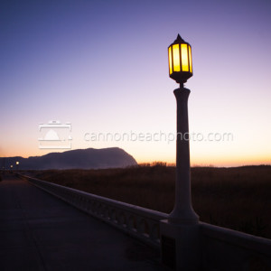 Evening Glow on the Prom in Horizontal, Seaside, Oregon