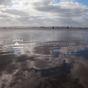 Reflective Sand in Seaside, Oregon