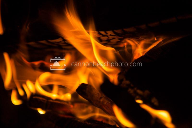 Beach Bonfire Closeup 2