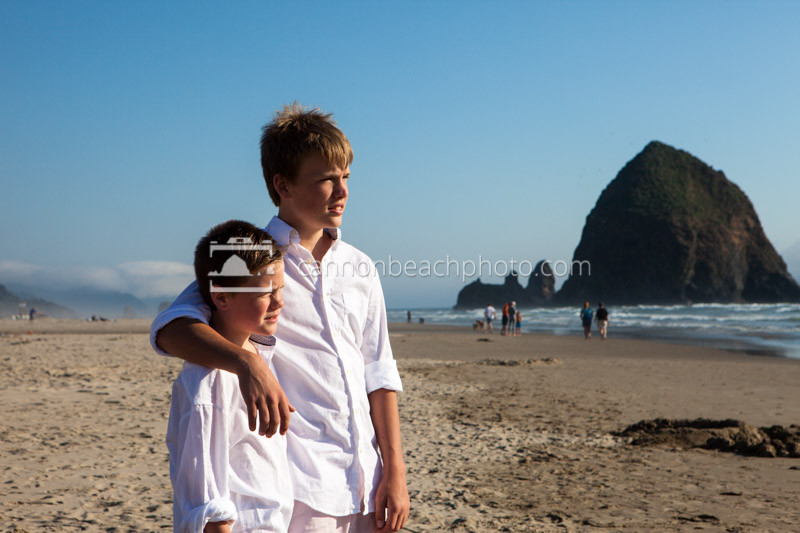 Brothers in Cannon Beach