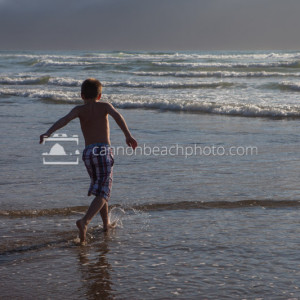 Child Playing in the Surf