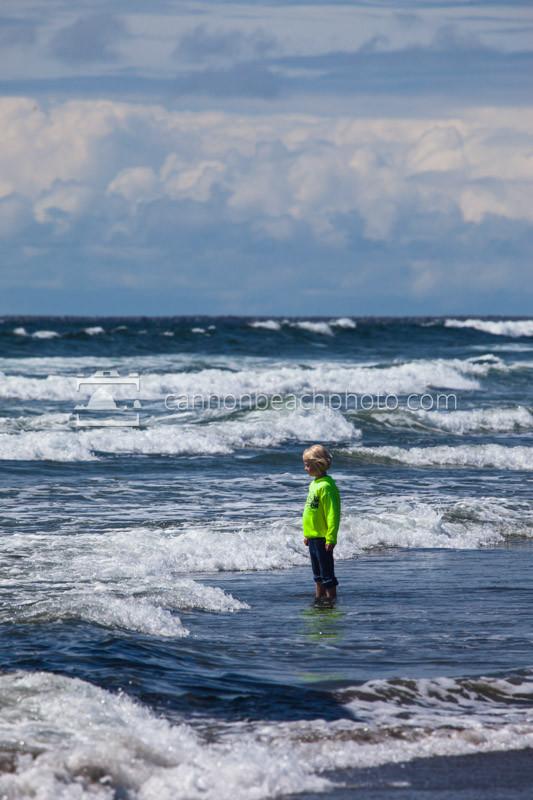 Child Standing in Surf