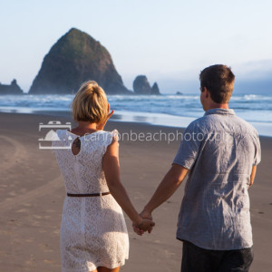 Couple Walking the Beach Hand in Hand
