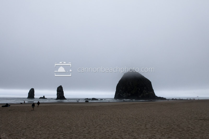 Fall Foggy Day in Cannon Beach, Oregon