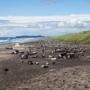 Fort Stevens Beach Summer Time Looking Toward the Jetti
