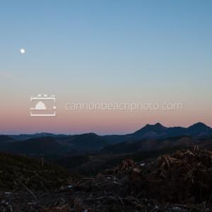 Full Moon Over the Coastal Cascades
