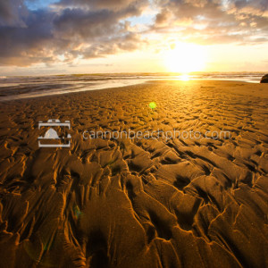 Golden Sand Texture, Creek Ripples at Sundown