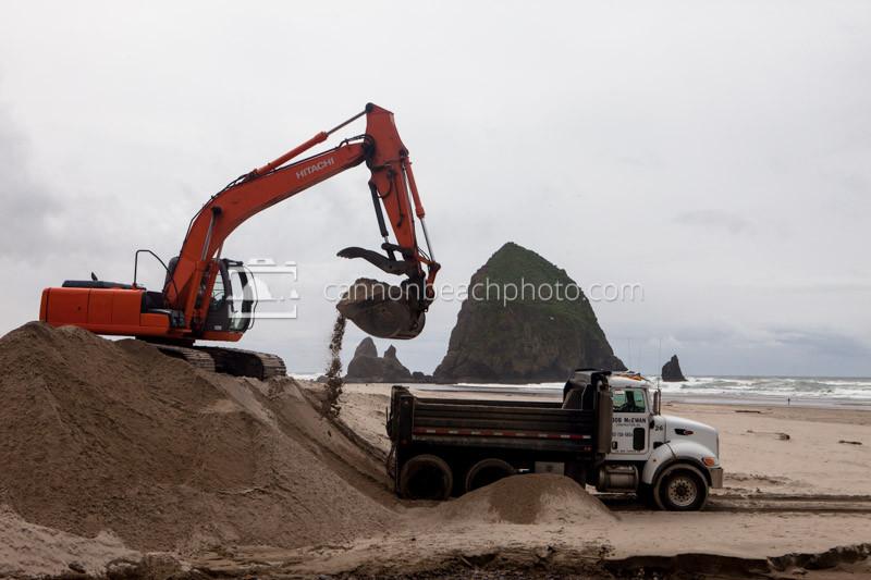 Haystack Rock Construction