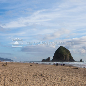 Haystack Rock Summer Beach Day