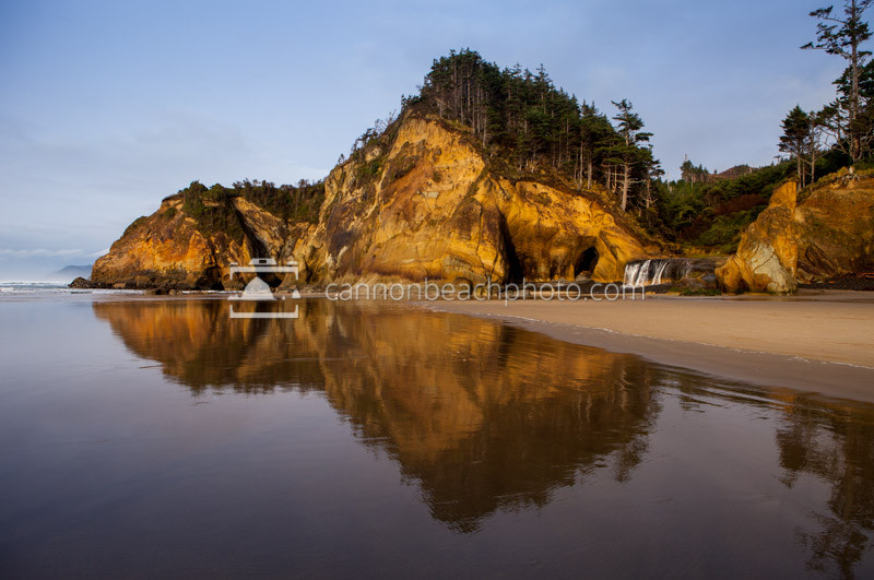 Hug Point Seascape Oregon Coast