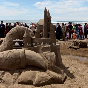 Impressive Sandcastle Event in Cannon Beach, Oregon