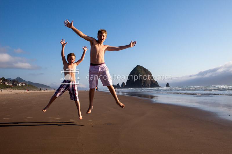 Jump for Joy in Cannon Beach