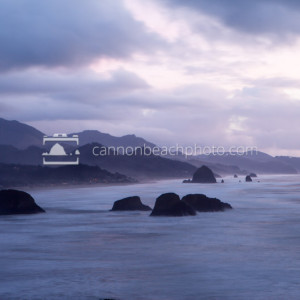 Moody Cloudy Evening Seascape, Ecola State Park