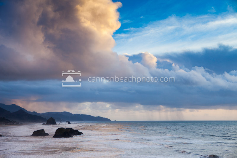 Oregon Coast Seascape, Ocean and Sky