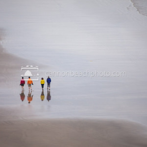 People Strolling the Beach