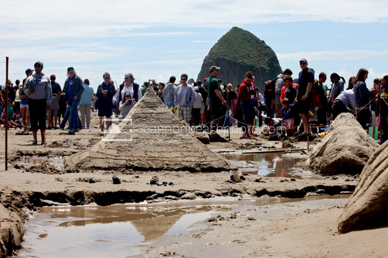 Sandcastle Day Pyramid in Cannon Beach, Oregon
