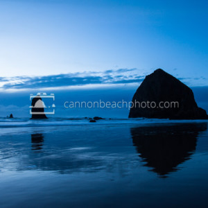 Simple Blue Scene, Haystack Rock
