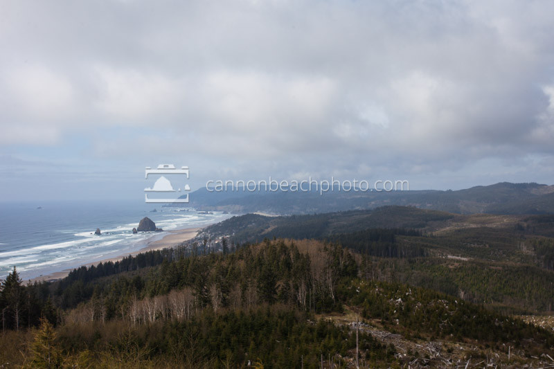 Summer View of Cannon Beach from Afar