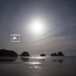 Sunny Foggy Over Crescent Beach