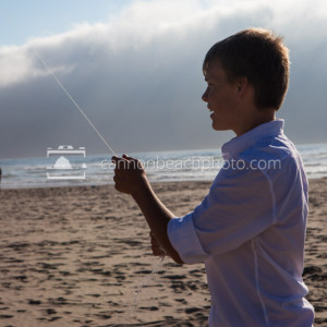 Teenager Flies a Kite, Horizontal