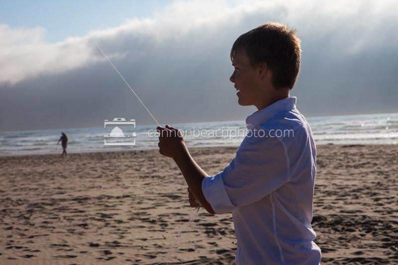 Teenager Flies a Kite, Horizontal
