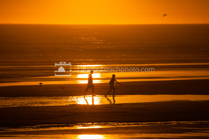 Two Playing Strolling in the Golden Light