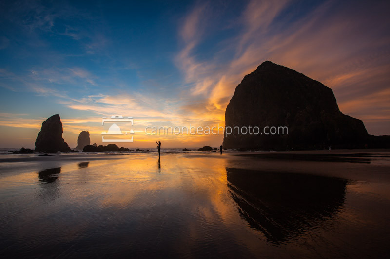 Vibrant Pacific Northwest Beach Sunset