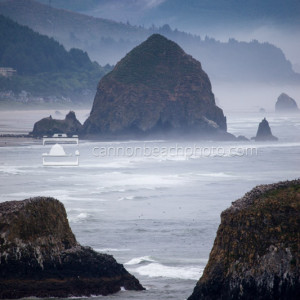 View from Ecola Point, Overcast Day