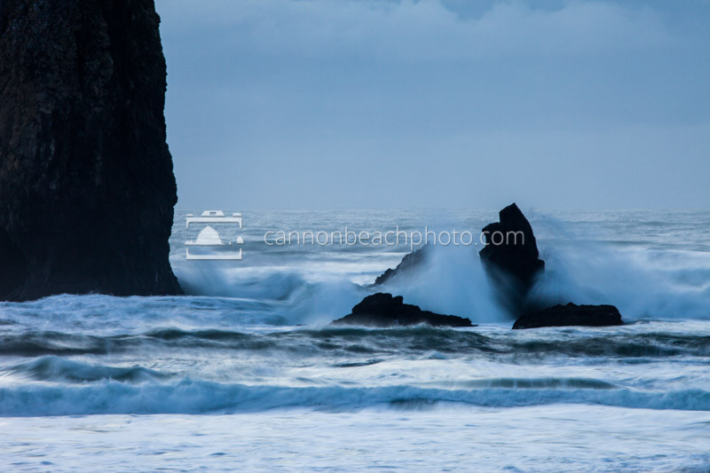 Wave Crash on Monk Rock, Oregon Coast