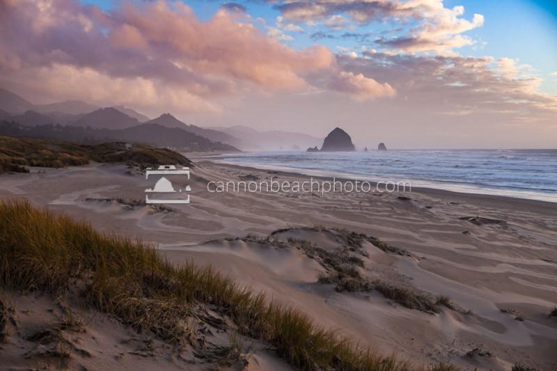 Wind Blown Dunes at Sunset, Oregon Coast