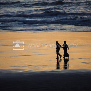 Couple Walking the Shoreline