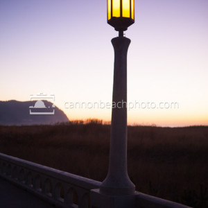 Evening Glow on the Prom in Vertical, Seaside, Oregon