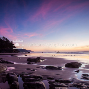 Hug Point Beach at Sunset