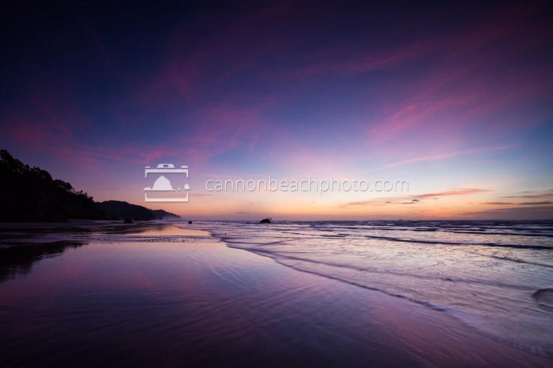 Hug Point Reflective Sunset