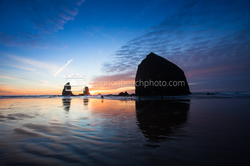 Oregon Coast Sunset at Haystack Rock