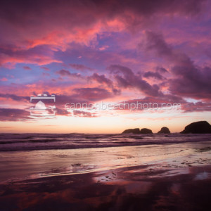 Purple Skies in Cannon Beach, Oregon