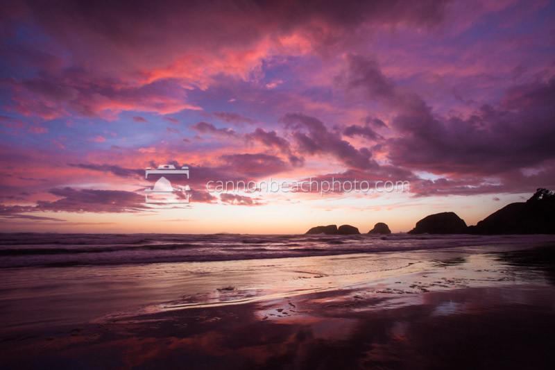 Purple Skies in Cannon Beach, Oregon