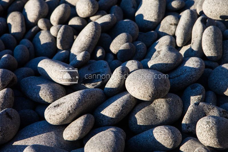Sunlit Beach Stones