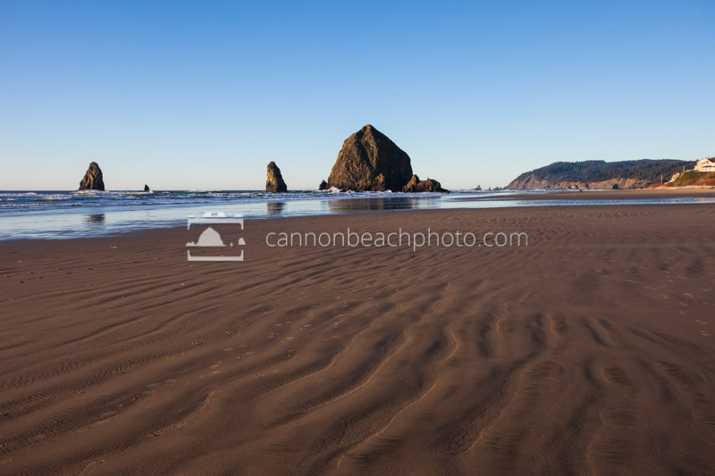 Sunny Winter Day with Haystack Rock