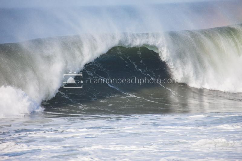 Wave Close Out, Seaside, Oregon