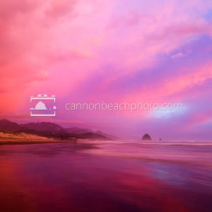 Pink Skies over Cannon Beach