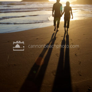 Romantic Beach Couple Hand in Hand