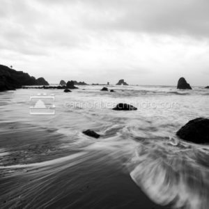 Black and White Stormy Seascape